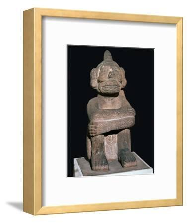 Pre-Columbian pottery statuette of the Mayan god Mictantecuan-Unknown-Framed Giclee Print