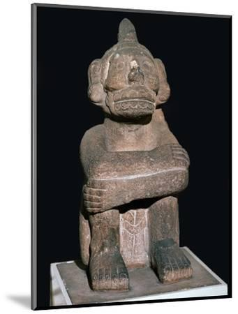 Pre-Columbian pottery statuette of the Mayan god Mictantecuan-Unknown-Mounted Giclee Print