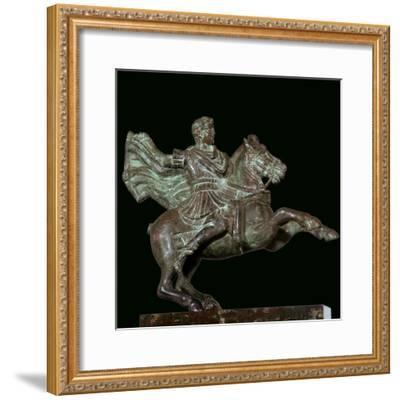 Roman bronze of Alexander the Great on horseback-Unknown-Framed Giclee Print