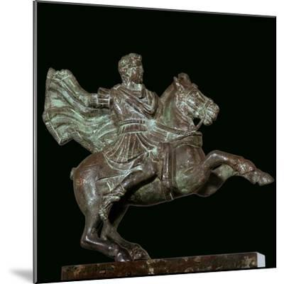 Roman bronze of Alexander the Great on horseback-Unknown-Mounted Giclee Print