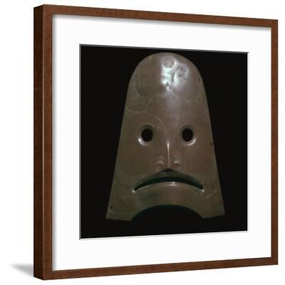 Native American copper mask representing a killer whale, 19th century-Unknown-Framed Giclee Print