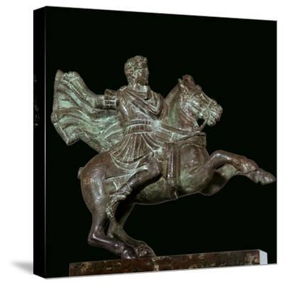 Roman bronze of Alexander the Great on horseback-Unknown-Stretched Canvas Print