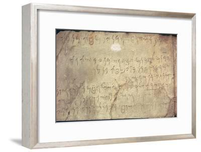 Phoenican inscription with the names of people working on a mausoleum-Unknown-Framed Giclee Print