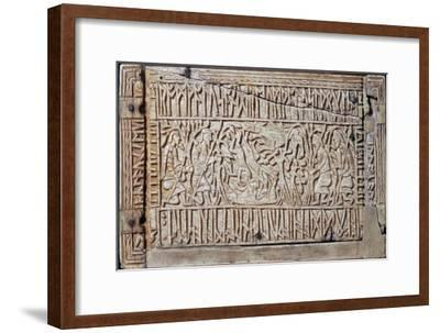 The Franks Casket, Anglo-Saxon, first half of the 8th century-Unknown-Framed Giclee Print
