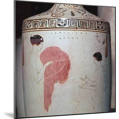 Detail of a Greek lekythos showing a mistress and maid, 5th century BC-Unknown-Mounted Giclee Print