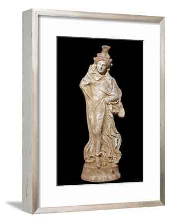 Greek terracotta of a woman in a flowing dress-Unknown-Framed Giclee Print