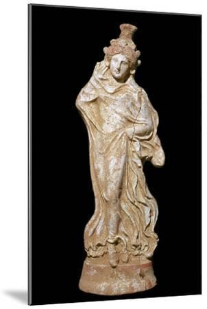 Greek terracotta of a woman in a flowing dress-Unknown-Mounted Giclee Print