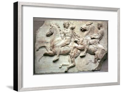 Detail of the Elgin Marbles, 5th century BC-Unknown-Framed Giclee Print