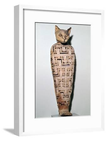 Mummy of a cat, Abydos, Upper Egypt Roman Period, perhaps 1st century-Unknown-Framed Giclee Print