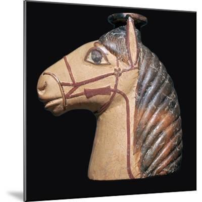 Terracotta scent bottle in the shape of a horse's head-Unknown-Mounted Giclee Print