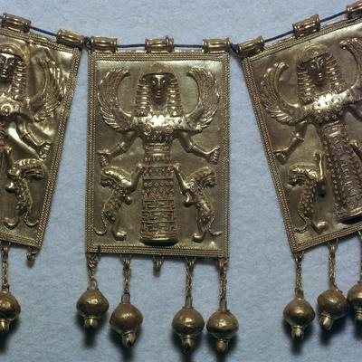 Greek gold pectoral plaque showing Artemis, 7th century BC-Unknown-Framed Giclee Print