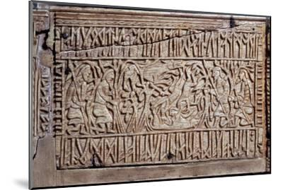 The Franks Casket, Anglo-Saxon, first half of the 8th century-Unknown-Mounted Giclee Print