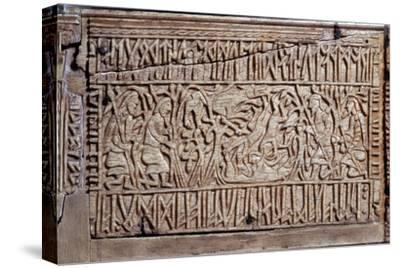 The Franks Casket, Anglo-Saxon, first half of the 8th century-Unknown-Stretched Canvas Print