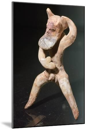 Greek terracotta of a satyr-Unknown-Mounted Giclee Print