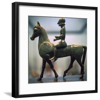 Greek bronze of a horseman-Unknown-Framed Giclee Print