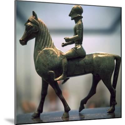 Greek bronze of a horseman-Unknown-Mounted Giclee Print