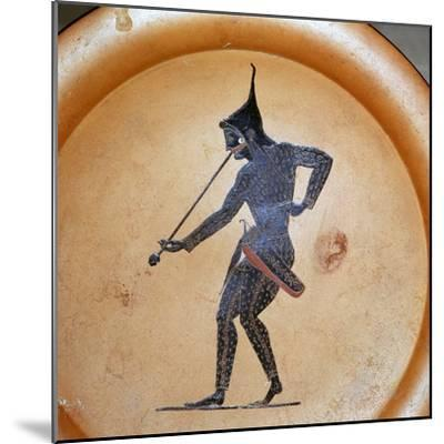 Greek painting of a Scythian archer blowing a trumpet, 6th century BC-Unknown-Mounted Giclee Print
