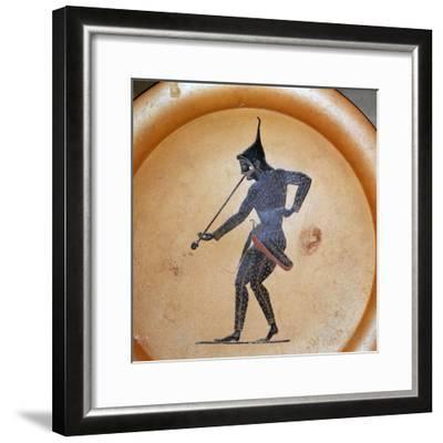 Greek painting of a Scythian archer blowing a trumpet, 6th century BC-Unknown-Framed Giclee Print