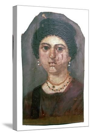 Egyptian wax portrait of a lady, 2nd century-Unknown-Stretched Canvas Print