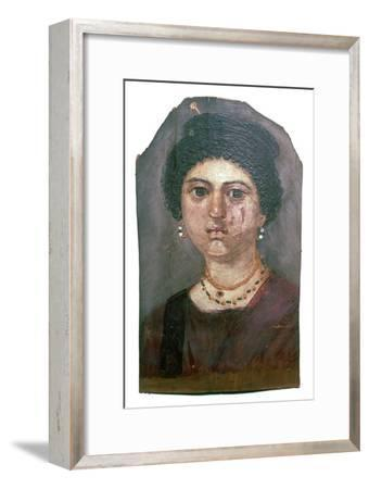 Egyptian wax portrait of a lady, 2nd century-Unknown-Framed Giclee Print