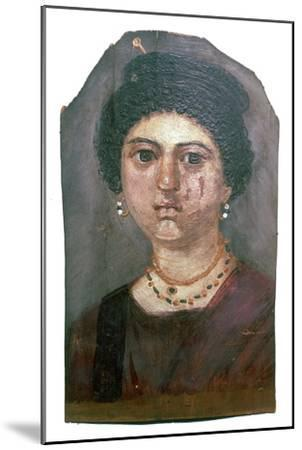 Egyptian wax portrait of a lady, 2nd century-Unknown-Mounted Giclee Print