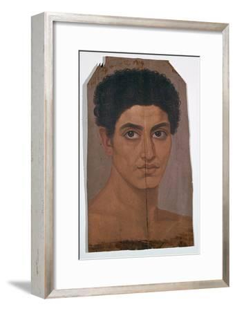 Egyptian wax portrait of a young man, 2nd century-Unknown-Framed Giclee Print