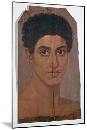 Egyptian wax portrait of a young man, 2nd century-Unknown-Mounted Giclee Print