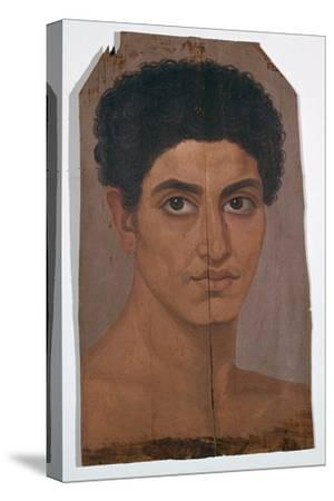 Egyptian wax portrait of a young man, 2nd century-Unknown-Stretched Canvas Print