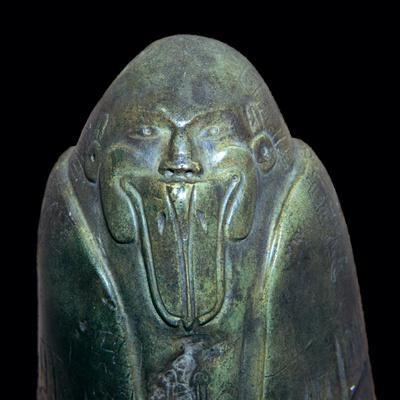 Aztec statuette of a duckbilled god-Unknown-Framed Giclee Print