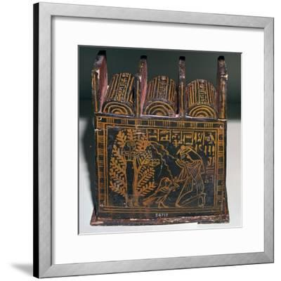 Egyptian painted shabti-box of Anhai-Unknown-Framed Giclee Print