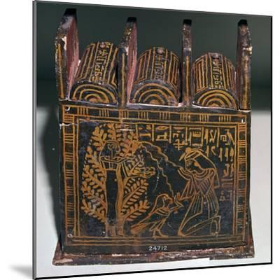 Egyptian painted shabti-box of Anhai-Unknown-Mounted Giclee Print