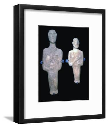 Cycladic figures, 25th century BC-Unknown-Framed Giclee Print