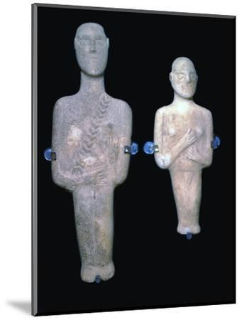 Cycladic figures, 25th century BC-Unknown-Mounted Giclee Print