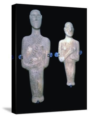 Cycladic figures, 25th century BC-Unknown-Stretched Canvas Print