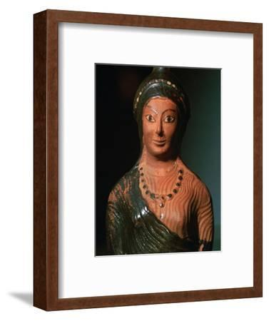 Greek terracotta scent bottle in the shape of a female bust-Unknown-Framed Giclee Print