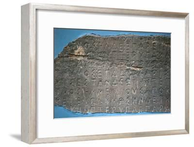 Example of early Greek script describing the flight of birds-Unknown-Framed Giclee Print