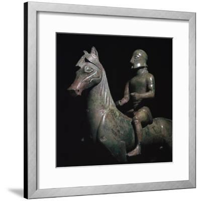 Detail of a Greek bronze of a horseman-Unknown-Framed Giclee Print