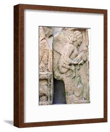 Detail of the Harpy Tomb from Xanthos, 5th century BC-Unknown-Framed Giclee Print