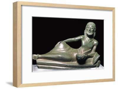 Greek bronze of a banqueter-Unknown-Framed Giclee Print
