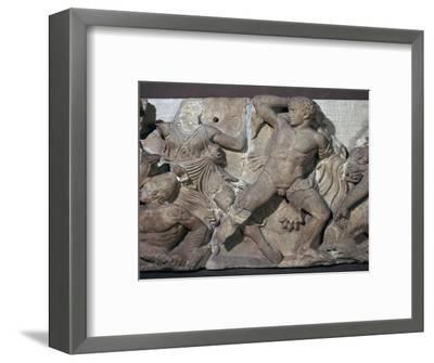 Detail from the frieze in the cella of the temple of Apollo at Bassae, 5th century BC-Unknown-Framed Giclee Print