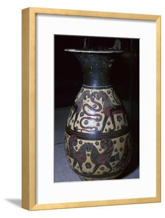 Corinthian wine jug, 6th century BC-Unknown-Framed Giclee Print