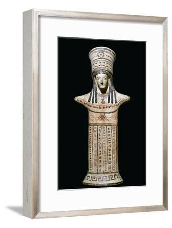 Terracotta statuette of a goddess-Unknown-Framed Giclee Print