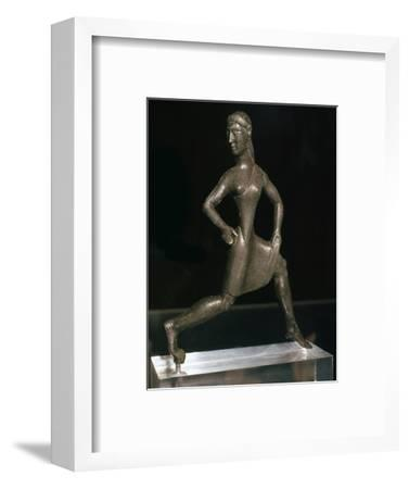 Greek bronze of a girl runner, 6th century BC-Unknown-Framed Giclee Print