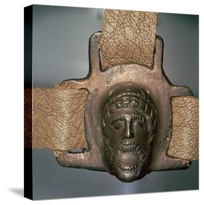 Romano-British bronze mount with mask, 2nd century-Unknown-Stretched Canvas Print