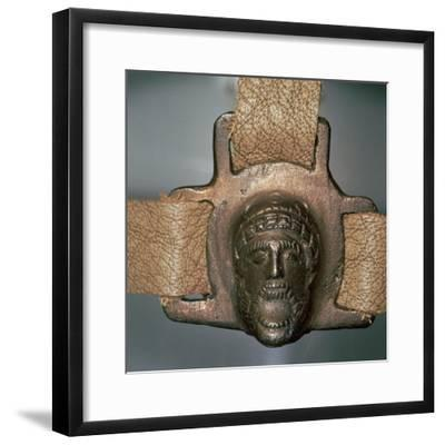 Romano-British bronze mount with mask, 2nd century-Unknown-Framed Giclee Print