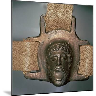 Romano-British bronze mount with mask, 2nd century-Unknown-Mounted Giclee Print