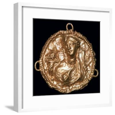 Greek pendant with bust of Aphrodite-Unknown-Framed Giclee Print