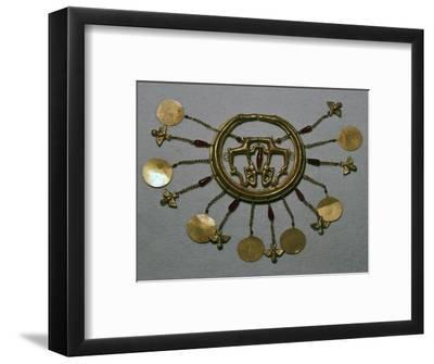Gold earring from the Aegina treasure, 17th century BC-Unknown-Framed Giclee Print