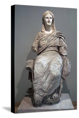 Greek sculpture of Demeter-Unknown-Stretched Canvas Print