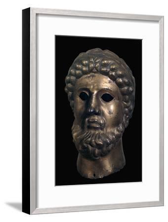 Romano-British bronze head, 2nd century-Unknown-Framed Giclee Print